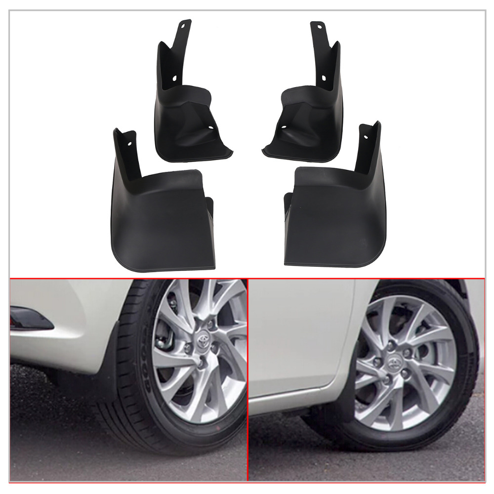 For Toyota Corolla Mud Flaps Rubber Front & Rear Splash Guar Mud Guards Fender Car Exterior Parts #RA015