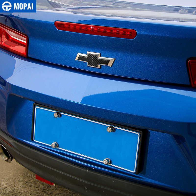 Mopai Carbon Fiber Stiker Mobil Depan Grille Belakang Cross Stiker Emblem Lencana Stiker untuk Chevrolet Camaro 2017 Mobil Aksesoris