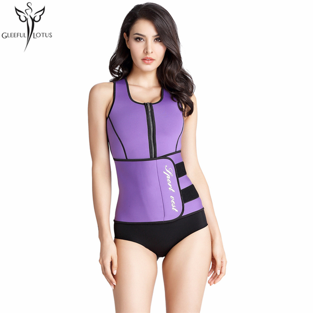 e629693e78 Hot Women Neoprene Sweating Belt Waist Trainer Thermo Vest Hot Shaper  Slimming Shaperwear Adjustable Fajas Body Shaper girdle