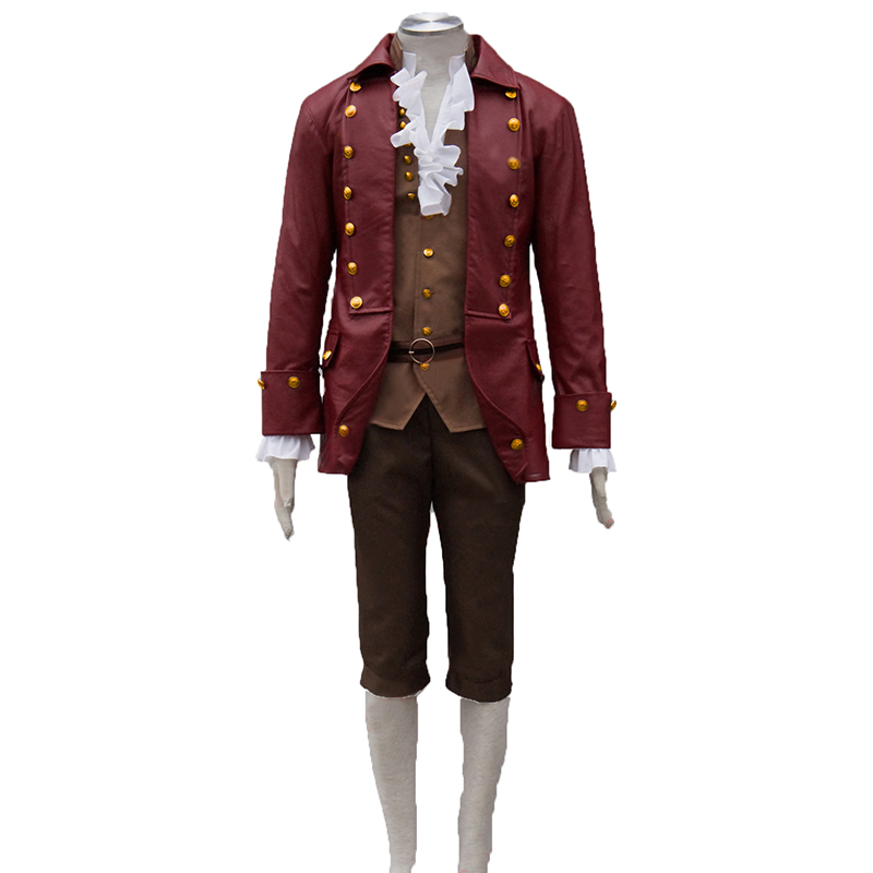 film Beauty and the Beast Prince Gaston Cosplay Costume