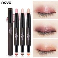Novo Double-ended Eyeshadow Pencil Stick Matte Shimmer Creamy Eye Shadow Light H