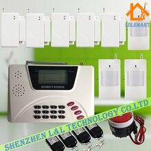 Беспроводная GSM PSTN Охранная Злоумышленник Дома Сигнализация с Датчиком Двери PIR Датчик