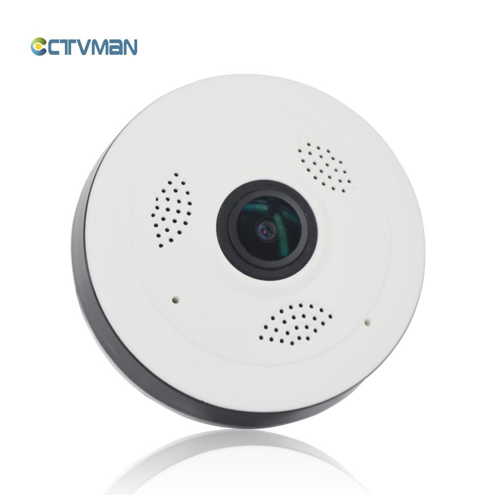 CTVMAN Panoramic Cam IP Wi-fi Fisheye 960P Mini Dome baby Camera 360 Degree With 32GB SD Card Security 2 Way Audio CCTV Webcam