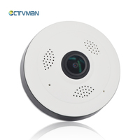 CTVMAN Panoramic Cam IP Wi Fi Fisheye 960P Mini Dome Baby Camera 360 Degree With 32GB