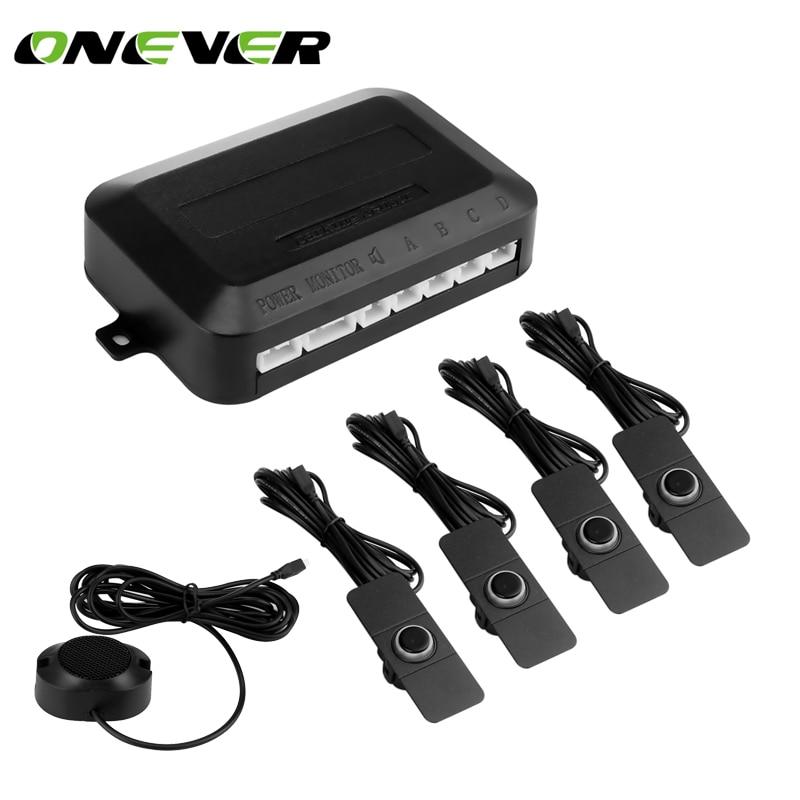 Onever парковка Сенсор парктроники 4 регулируемые 16 мм без каблука Сенсор s Обратный резервного Радар Звук Звуковой сигнал Регулируемый звук
