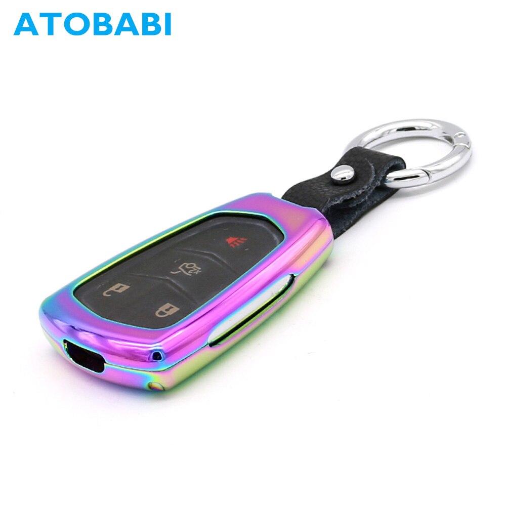 ATOBABI Zinc Alloy Car Key Case Smart Remote Shell Cover for Cadillac ESV Escalade CTS XTS SRX ATS XT5 CT6 2015 2016 2017 2018