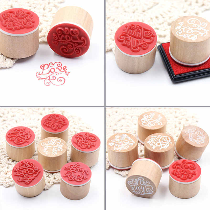 4cm Ink Pad Stamp for Scrapbooking Inkpad Sealing Decoration