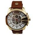 Reloj Men Luxury Genuine Leather Strap Big Dial Sports Quartz Clock Japan Movement Business Wrist Curren 8176 Relogio Masculino