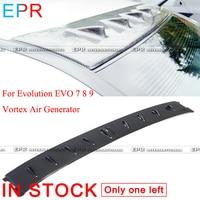 For Evolution EVO 7 8 9 Vortex Carbon Fiber Air Generator For Mitsubishi Glossy Fiber Roof Wing Accessories
