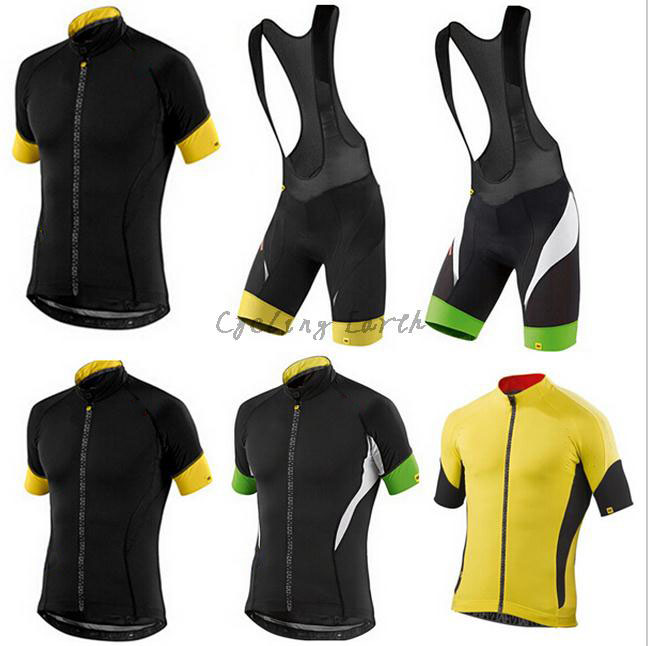 MAVIC 2015 3 styles short sleeve cycling jersey bib shorts set mtb bike wear clothes jersey