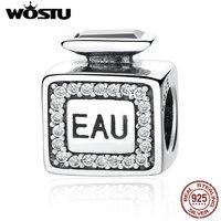 Fashion Real 925 Sterling Silver EAU Scent Charm Beads Fit Original Pandora Bracelet Pendant Authentic Fine