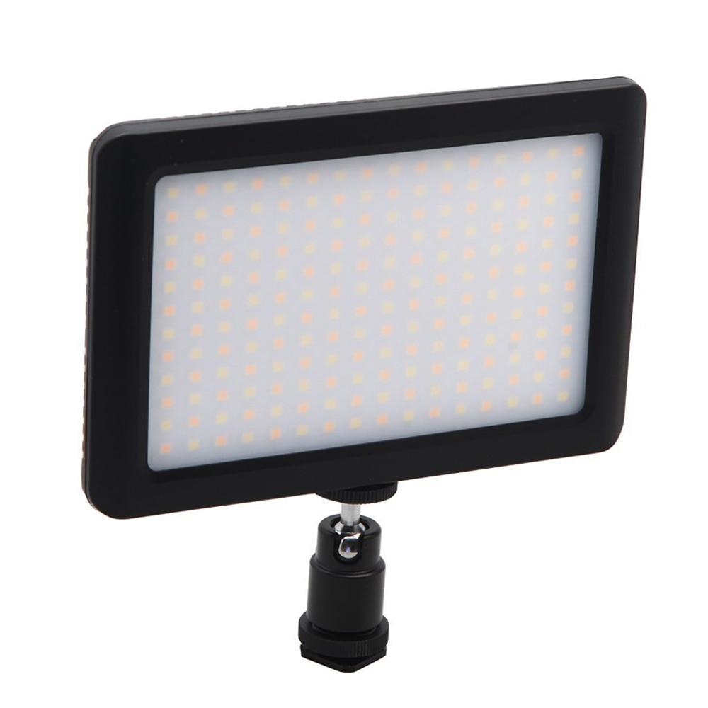 12W 192 LED Studio Video Continuous Light Lamp For Camera DV Camcorder Black 15w 6000k 1050lux 6 led white light video lamp with filters for camera camcorder black