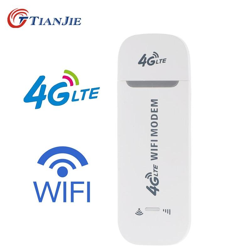 Tianjie 3G 4G Gsm Umts Lte Usb Wifi Modem Dongle Auto Router Netwerk Adapter Met Sim Card Slot 2