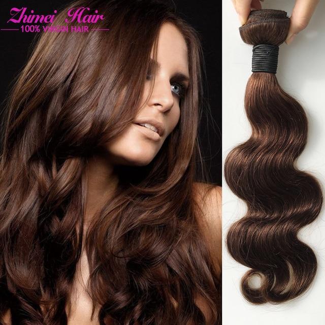 Cheap 7a Peruvian Virgin Hair Body Wave 3 Bundles 4 Light Brown