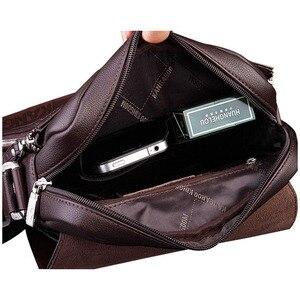 Image 2 - New Arrived luxury Brand mens messenger bag Vintage leather shoulder bag Handsome crossbody bag handbags Free Shipping
