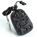 Traditional Wood Products Classic Ethnic Jewelry Ebony The New Wood Key Chain Chinese Dragon Peace Keychain