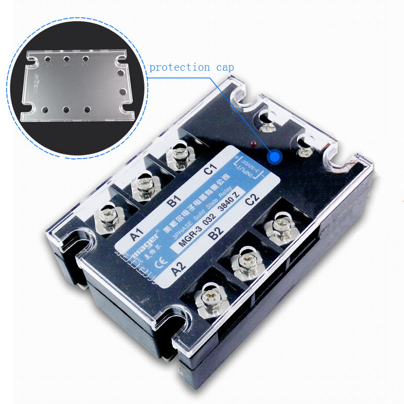 Free shipping 1pc High quality 40A Mager SSR MGR-3 032 3840Z DC-AC Three phase solid state relay DC control AC 40A single phase solid state relay 220v ssr mgr 1 d4860 60a dc ac
