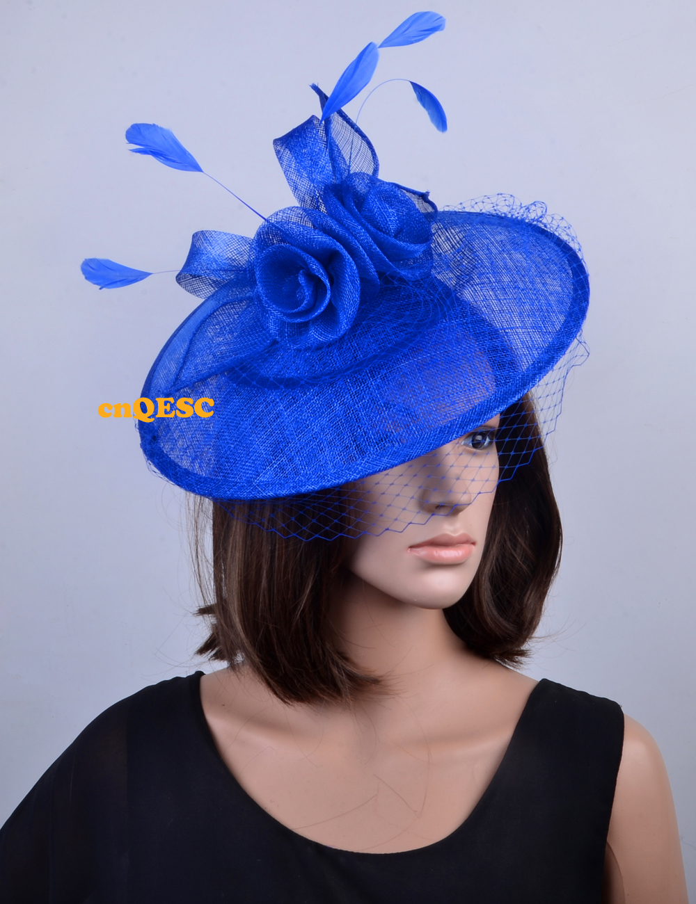 NEW 5 colours Royal blue Large saucer base fascinator for wedding party  races kentucky derby ascot races churFREE SHIPPING c58d736b81b