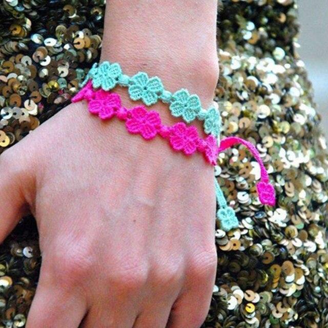 2018 Neu Kommen Italien Spitze Makramee Armband Häkeln Handmade