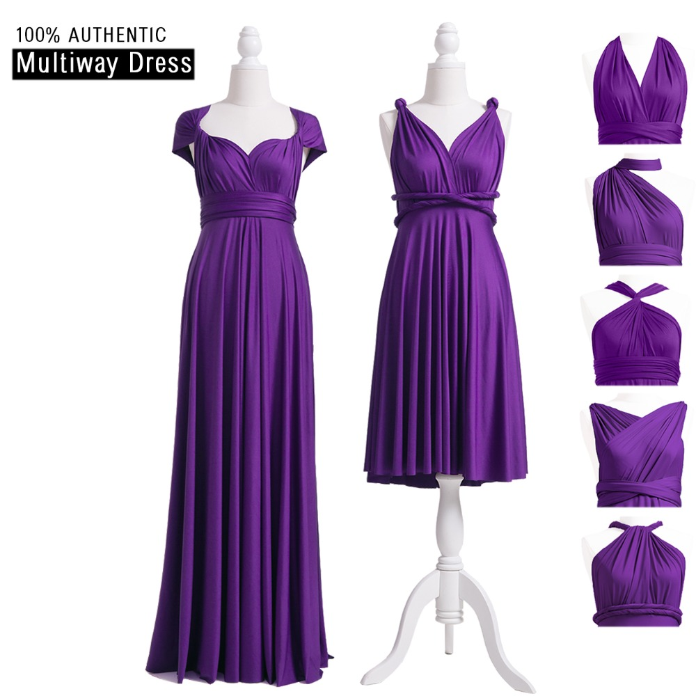 Purple Bridesmaid Dress Grape Multi Way Long Dress Infinity Maxi Dress Purple Wrap Dress With Cap Sleeves Styles