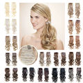 Synthetic hair Long Curly Ponytail Hairpiece Clip In Ponytail Hair Extension 1pcs 22inch 100g Coleta Pinza 16 Color Available
