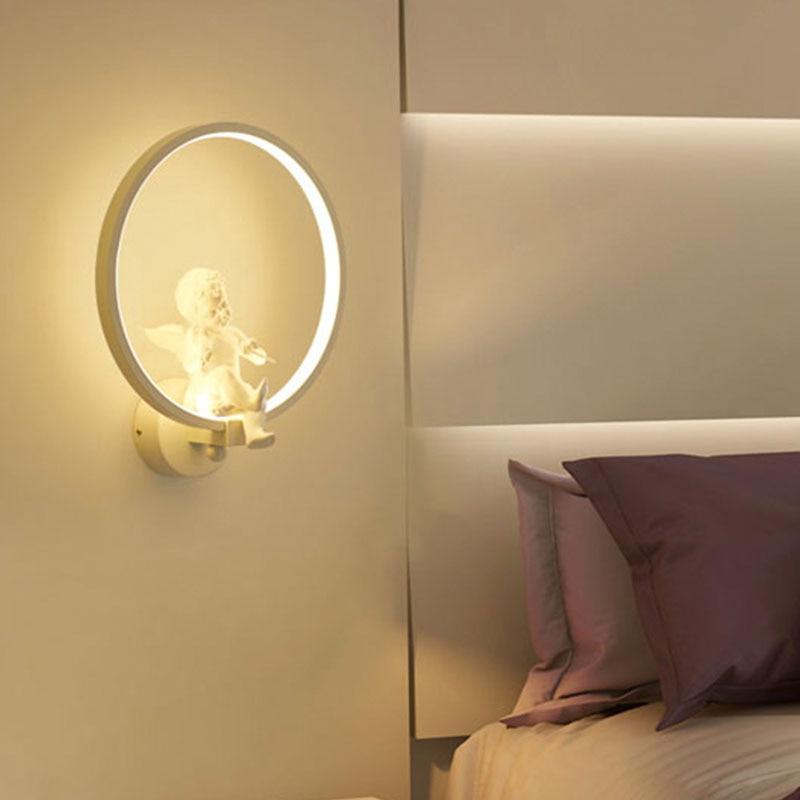 DBF]Modern Art Angel Home Lighting Wall Mounted LED Wall Light 220V ...
