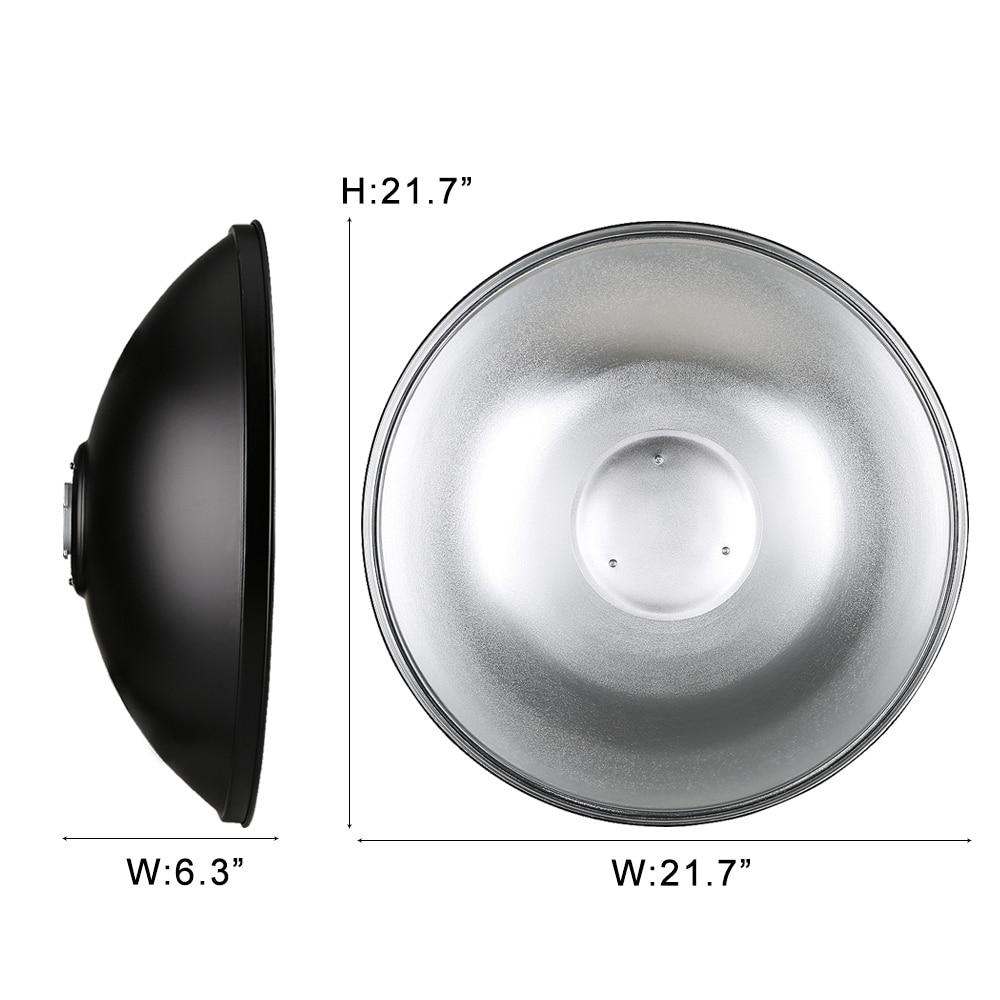 Godox AD-H5 55cm 21.6 Inch Flash Beauty Dish Standard Reflector for Godox Witstro AD600 AD600M Speedlite Godox Mount стоимость