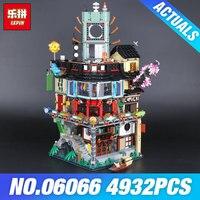 Лепин 06066 Строительная модель модульных блоков подростков игрушки Кирпичи 70620 DIY подарок 06022 храм Airjitzu 70751 игрушки