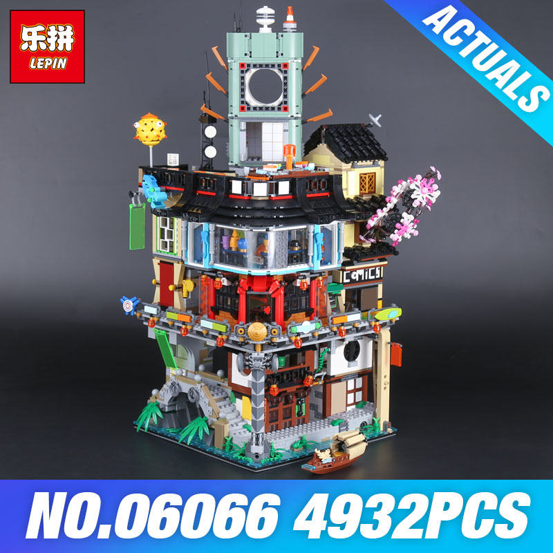 цена Lepin 06066 Construction Model Modular Building Blocks Teenagers Toys Bricks 70620 DIY Gift 06022 Temple of Airjitzu 70751 Toys