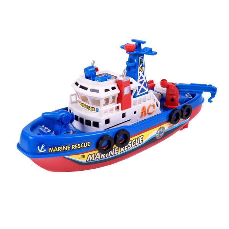 Bambini giocattolo elettrico fuoco barca musica barca elettrica fiamma ossidrica - 4