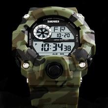 Skmei 2016 nueva llegada de la manera ocasional de los deportes relojes hombre de lujo marca de fábrica g estilo hombres de cuarzo militar del ejército relojes digitales hombres reloj