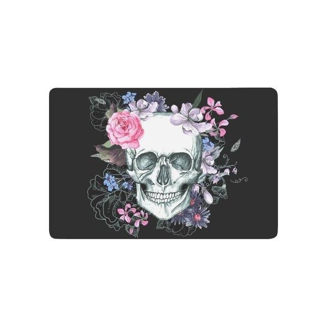 Day of the dead anti slip door mat home decor sugar skull with pink day of the dead anti slip door mat home decor sugar skull with pink mightylinksfo
