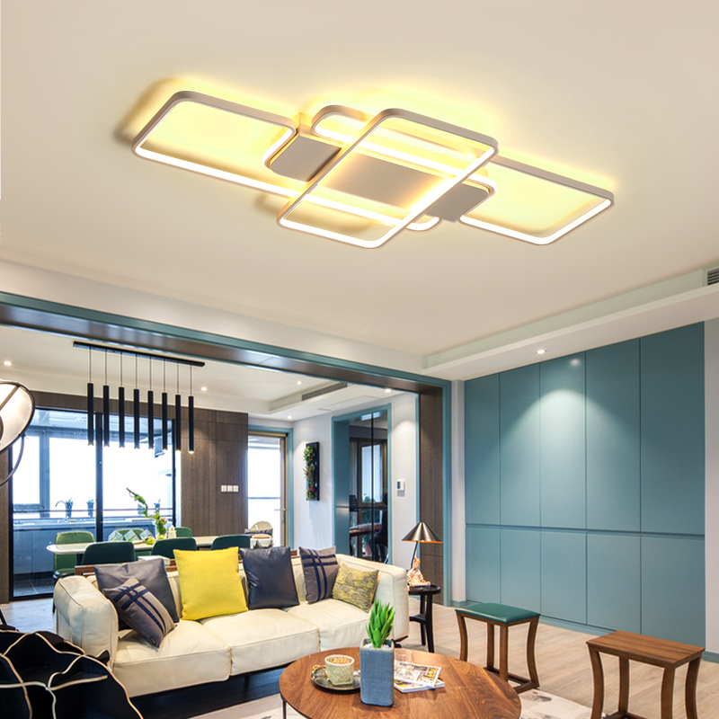 Modern LED ceiling lights for living room bedroom study creativity rectangle Aluminum ceiling lamp indoor lighting fixtures