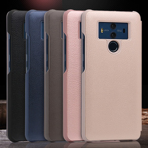 Image 5 - Smart View Flip Cover Leather Phone Case For Huawei Mate 10 Pro Mate10 10pro Mate10pro Luxury Magnetic Case Shockproof 360