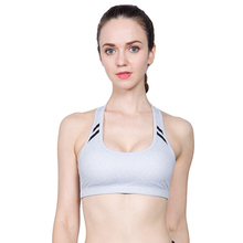 2017 Workout Sport Bra Bh Gym Comfortable Breathable Short Tank Top Women Running Yoga Brassiere Fitness