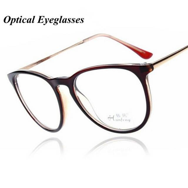 5b8e9b98101e1 Kottdo Óculos Moda Retro Das Mulheres Dos Homens Do Metal Do Vintage  Transparente Óptico Óculos de