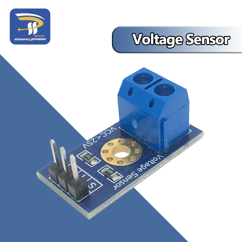 Умная электроника, постоянный ток 0-25 в, стандартный модуль датчика напряжения, тест электронных блоков, умный робот для arduino, Набор для творч...