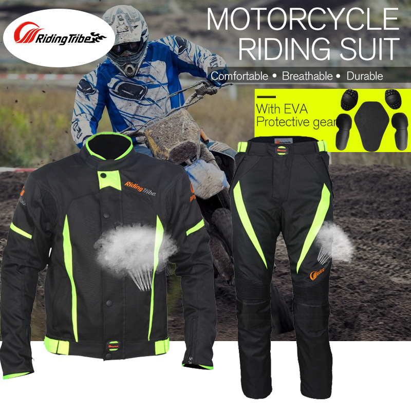 Riding Tribe Summer Winter Motorcycle Ricing Pants Moto  Outdoor Riding Safety Vest Jacket Offroad Cycling Motocross Fluorescent