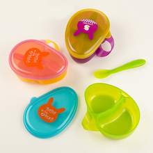 Portable Baby Food Container Outdoor Storage Childrens Box Cute Cartoon Cutlery Set Boxs Snack