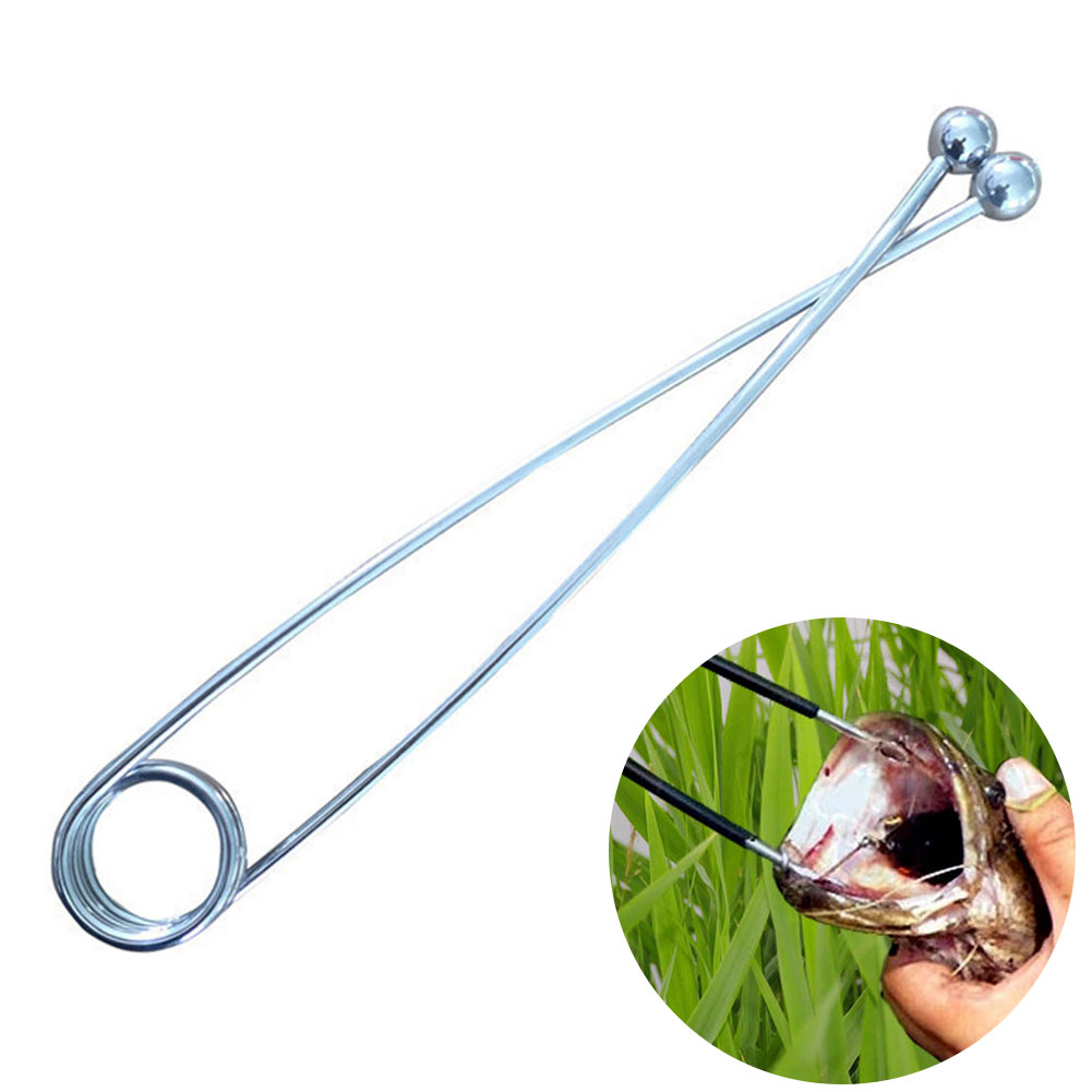 Lip Catching Ball Open Mouth Durable Fish Clip Spherical Silver Bait Accessories Spreader Decoupling Snakehead Tool Fishing Tack