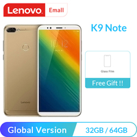 "Global Version Lenovo K9 Note 3GB 32GB 64GB 6"" Smartphone Snapdragon 450 Octa Core  16MP Camera 3760mAh Battery Cellphone Lenovo Phones"