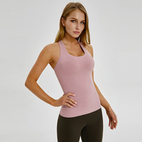 Yoga Tank Top Women's Summer Quick Dry Thick Material Sleeveless Loose Sport Top Gym Workout Running Top Free Shipping