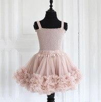 Mädchen Nette Tutu Röcke Fluffy 3-8 Jahre Chiffon Einfarbig Pettiskirt Baby Dance Rock Weihnachten Mode Tüll Petticoat