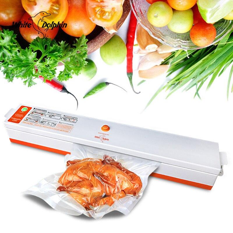 Máquina China Vedação Alimento domésticos Vacuum Sealer Saver Manter Fresco Máquina de Embalagem de Alimentos Aferidor Do Vácuo Empacotador de 15 pcs Sacos