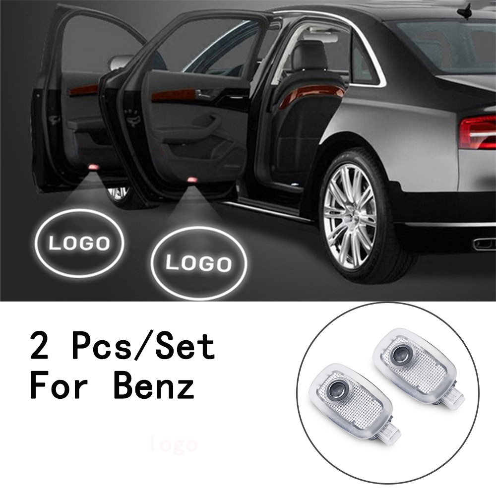 Lens Include 2Pcs/Set With Logo LED Courtesy Ghost Shadow Projetor 5W Weclome Lamp Only For Benz S Class/W221 2006-2017