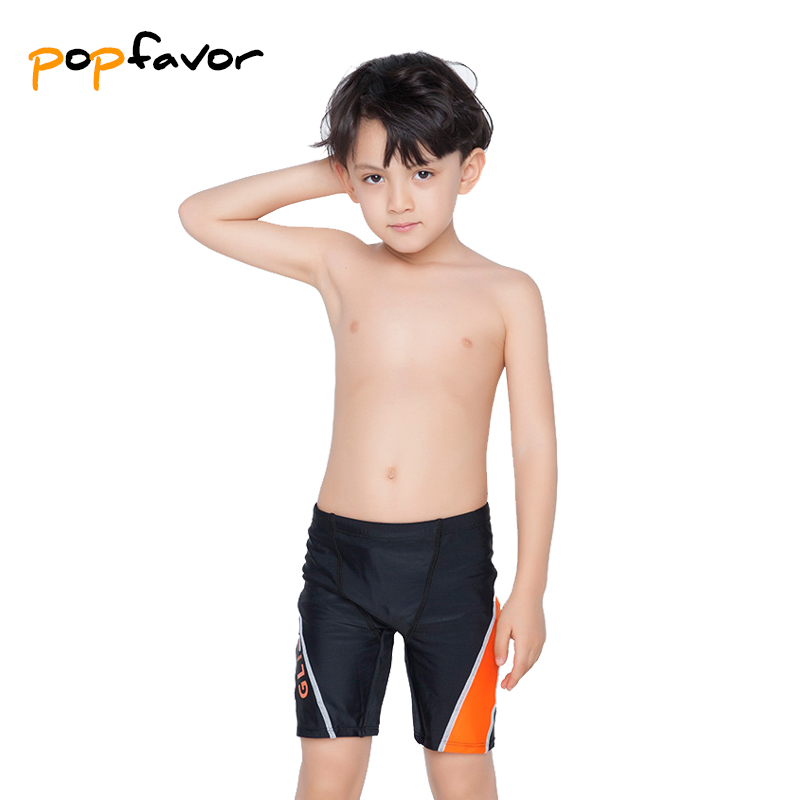 POPFAVOR Brand Children Trunks Black Kids Swimwear Cute Boy Swimming Trunks Sunga Swimsuit Boy's Clothing Swimming Shorts