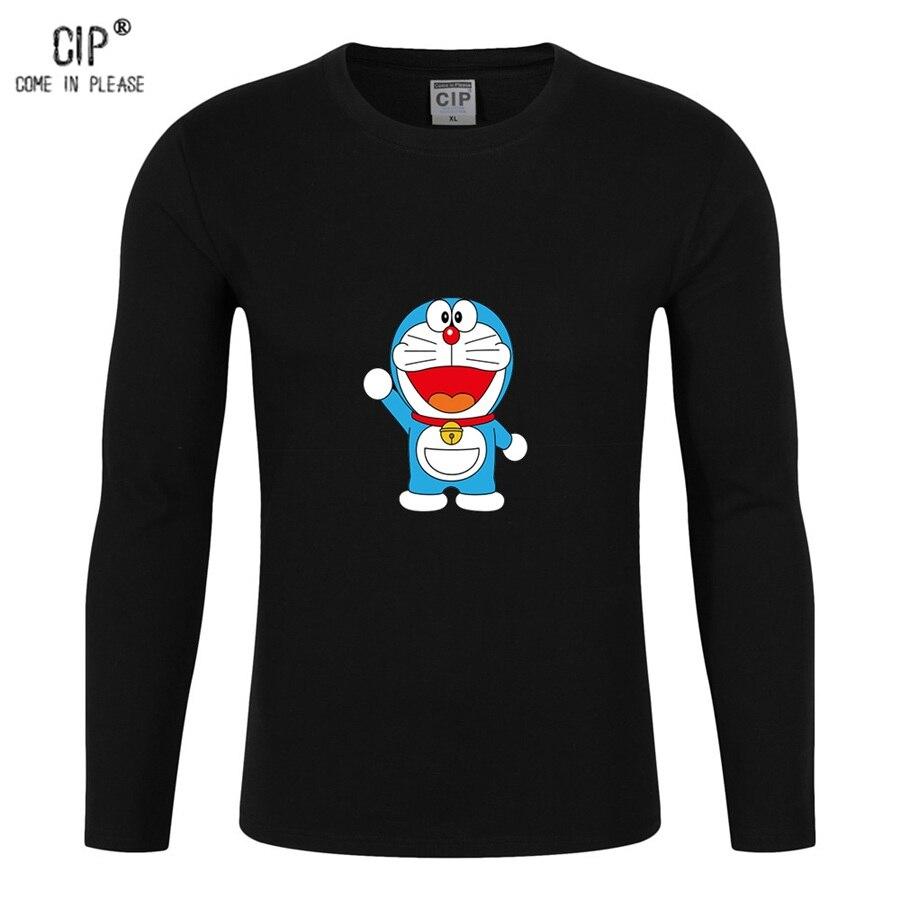 CIP Brand Doraemon Long Sleeve Children T Shirt Cute Cat Boys Girls T Shirts Kids Spring and Summer Wear Cartoon Tee Shirts CL05
