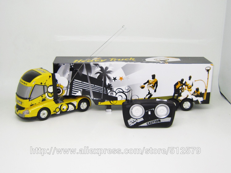 Remote Control Big Size Detachable 1:32 6CH R/C Container  truck Toy with lights and sounds free shipping  remote control 1 32 detachable rc trailer truck toy with light and sounds car