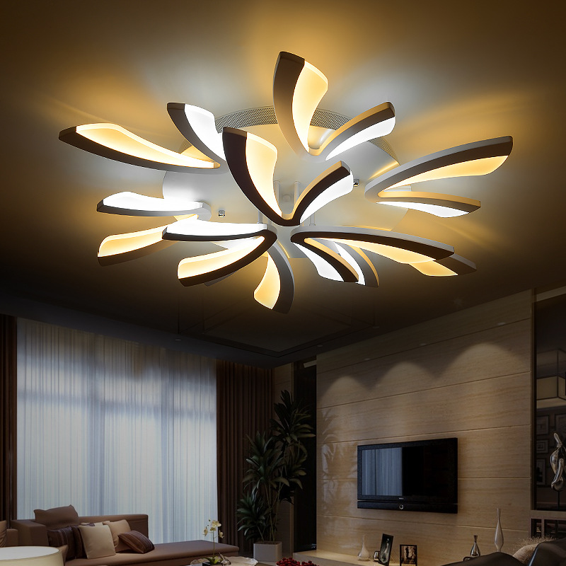 Modern Dimmable LED Living Room Ceiling Light Large Ceiling LED Light  Fittings For Bedroom Home Decor Remote Control Lighting In Ceiling Lights  From Lights ...