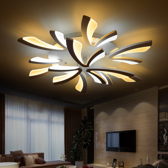 living room led lighting. Modern Dimmable LED Living Room Ceiling Light Large  Fittings For Bedroom Home Decor remote control lighting Online Shop